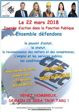 8631e6b8171 Le 22 mars 2018 Journée d action dans la Fonction Publique - CNGA